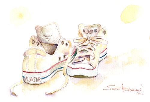 水彩教室 靴