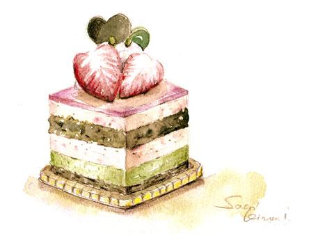 水彩教室 ケーキ