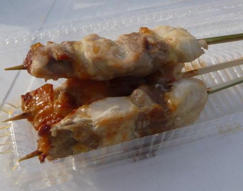 比内地鶏串焼き