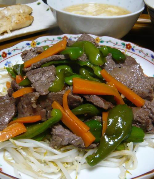 牛野菜炒め