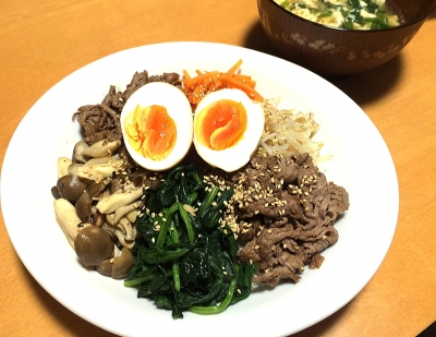 ビビンバ風 丼