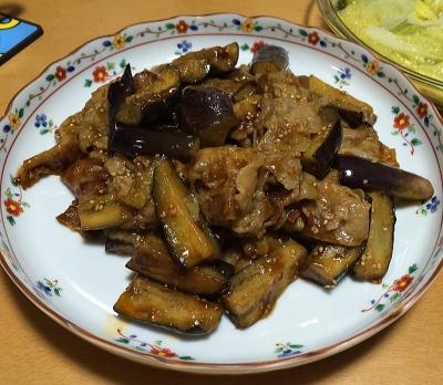 茄子と豚肉味噌炒め