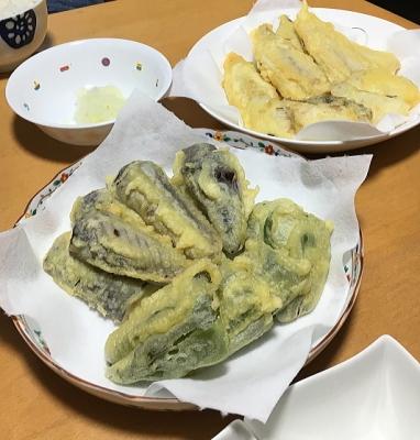 鱈と鯵の天ぷら
