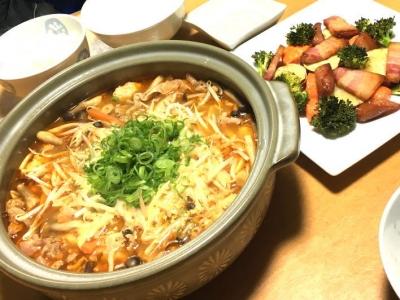 味噌鍋と焼き野菜
