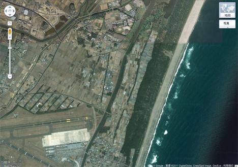 被災前の名取市沿岸