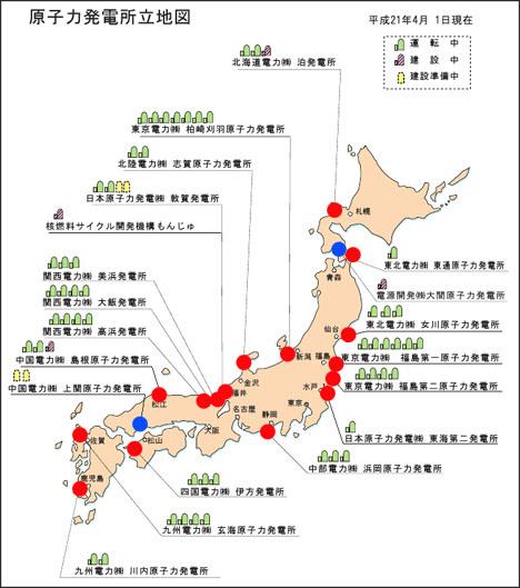 日本の原子力発電所