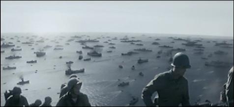 背景の大艦隊