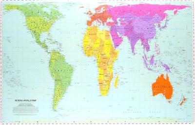 ピーターズの世界地図