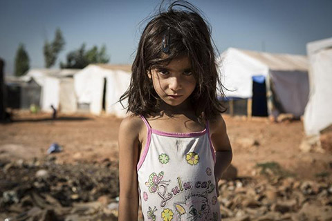 難民の少女