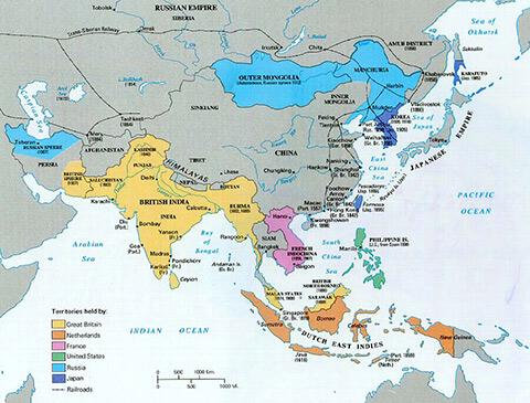 1850年頃の植民地