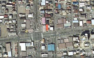 新社屋の衛星写真