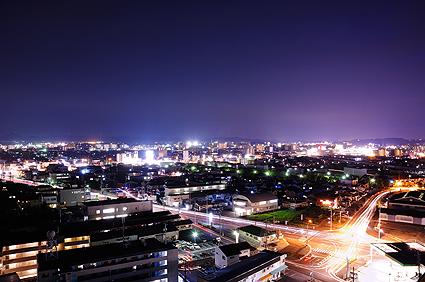 フローレンス東古松 15階からの夜景