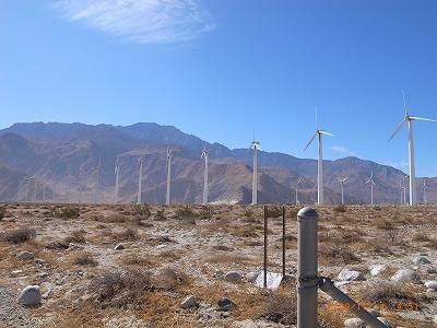 カリフォルニア パームスプリングス風力発電