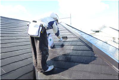 屋根塗装 フッ素4度塗り