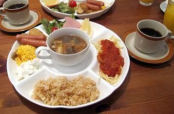 朝は完食(^^)v
