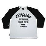 NESTA【ネスタ】七分袖Tシャツ TEAM NESTA RAGLAN TEE[WHTxBLK] DTS1505SP