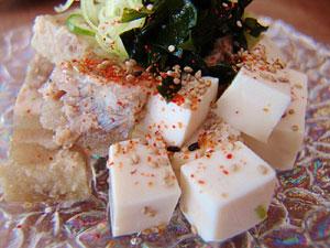 豆腐と煮こごり