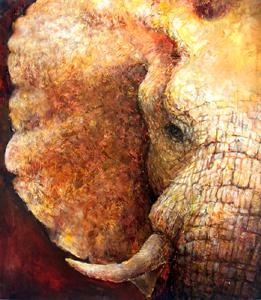 「鼓動」アジア象ではないがとても魅かれる大好きな絵の1つ