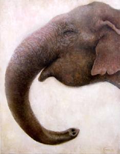 クリスティーナという絵理菜がこよなく愛する象をモデルにした絵