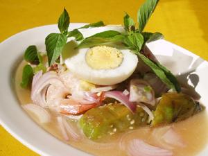 タイの焼きナスのサラダ