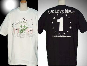 ガチャピン&ムックのTシャツの画像