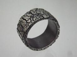 「自然な力」リング 純銀製シルバーアクセサリー