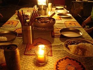 グリーンビュー丸山オートキャンプ場 晩餐