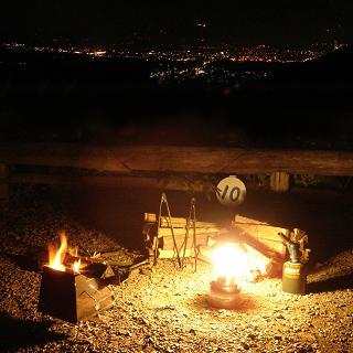グリーンビュー丸山オートキャンプ場 焚火