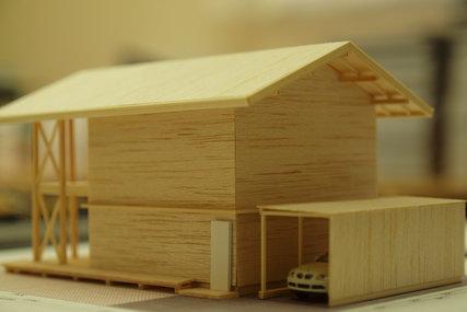 O邸建築スタディ模型