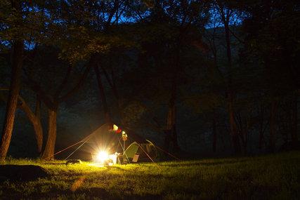 白州観光尾白キャンプ場の夜景