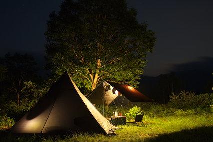 野反湖キャンプ場夜景