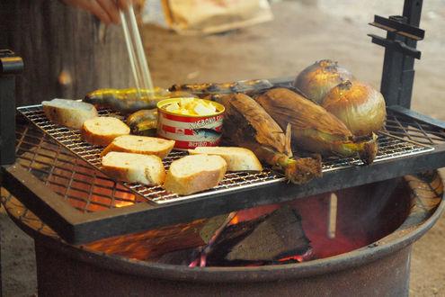焚き火料理