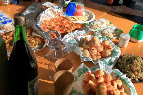 燻製キャンプ2013の食卓