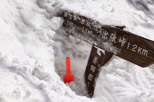 薬師岳(赤城山)山頂標識