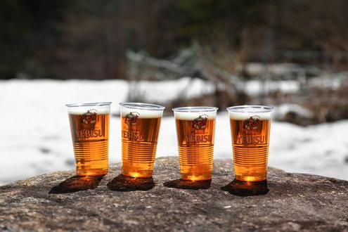 長衛小屋の生ビール