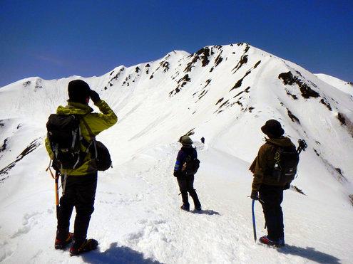 仙丈ヶ岳と3人衆