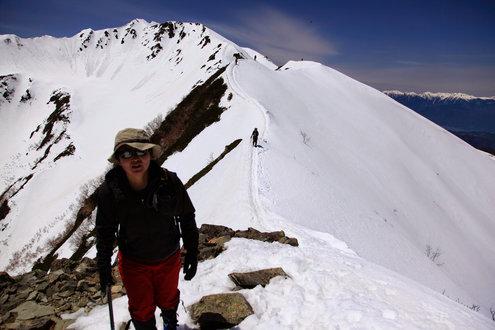 仙丈ヶ岳の稜線
