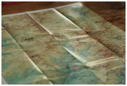 北アの地図