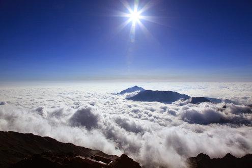 槍ヶ岳山頂からの景色