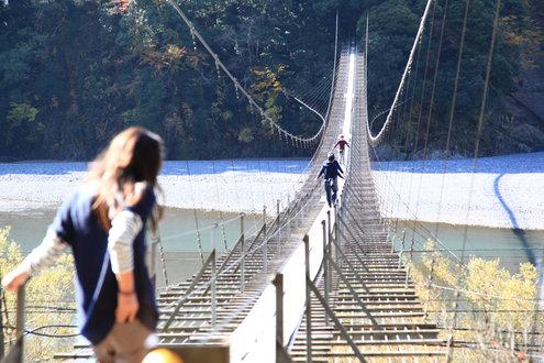 塩郷の吊橋 〔愛称:恋金橋〕