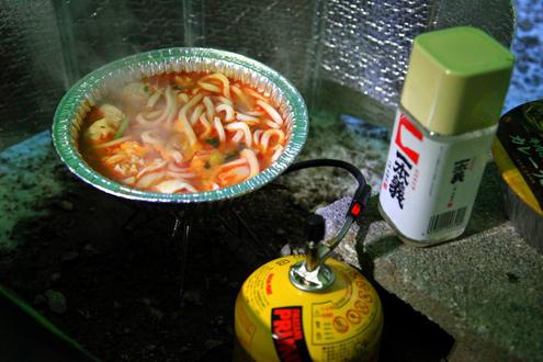 チゲ鍋と日本酒