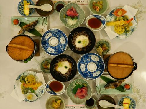 稲子湯旅館の夕食