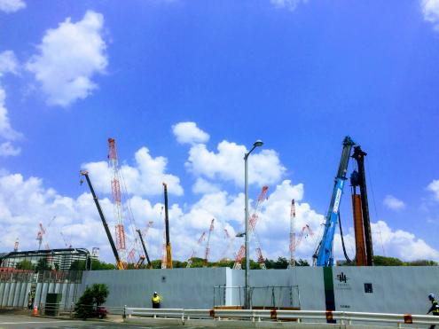 新国立競技場の工事現場