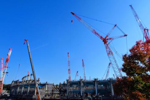 新国立競技場の工事の様子