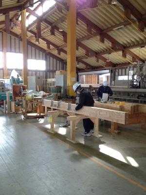 プレカット工場内部