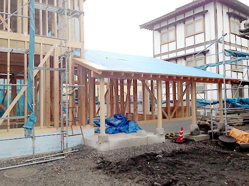 沼田市某寺庫裡新築工事構造検査