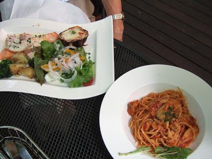 スパゲティ と ワンプレートランチ
