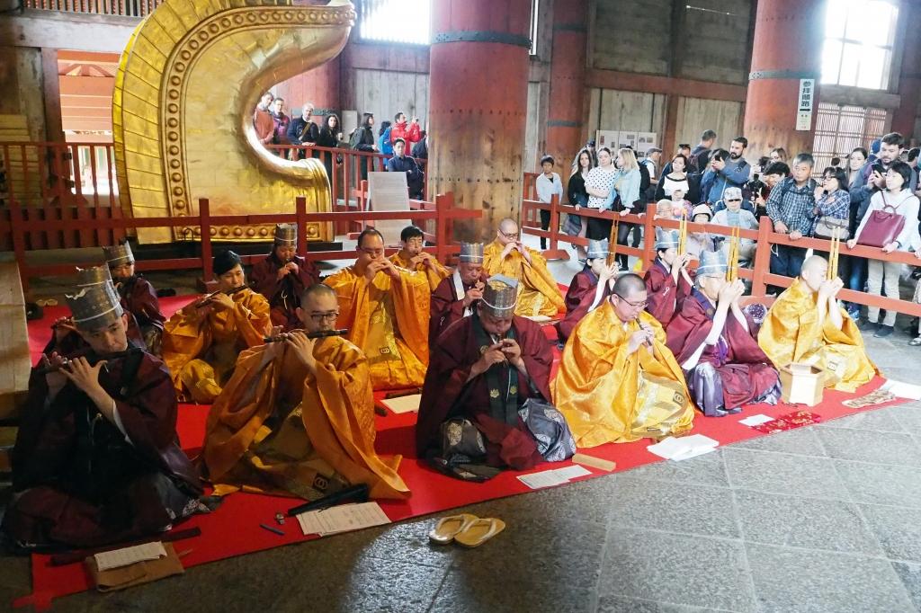 東大寺での雅楽演奏