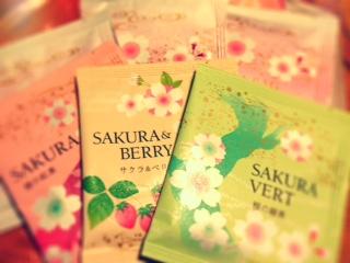桜茶いろいろ