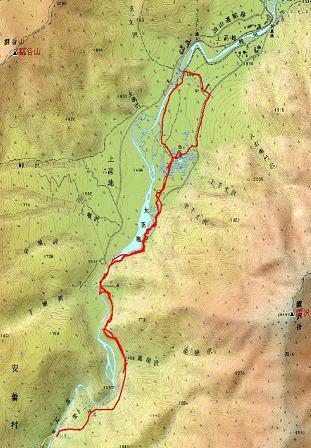 上高地GPSの軌跡200210